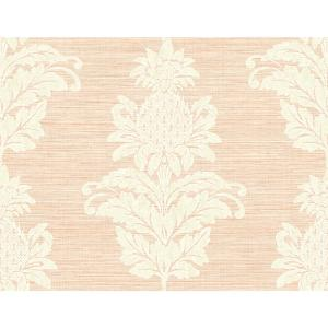 peachy garden grove home depot. Kenneth James Pineapple Grove Pink Damask Wallpaper Sample PS40701  The