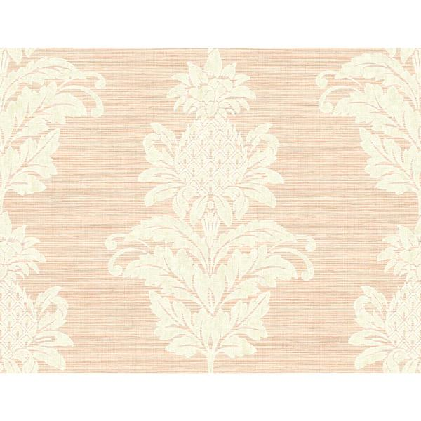 Kenneth James Pineapple Grove Pink Damask Wallpaper Sample PS40701SAM
