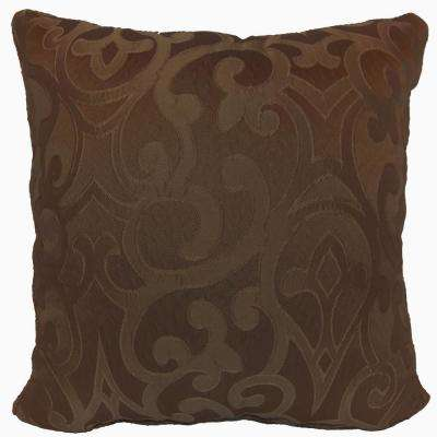 Erin Chocolate Standard Decorative Pillow