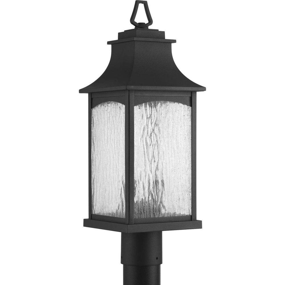 Maison Collection 2-Light Black Outdoor Post Lantern