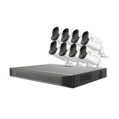 Ultra HD Audio Capable 16-Channel 5MP 3TB NVR Surveillance System with 8 Indoor/Outdoor Cameras