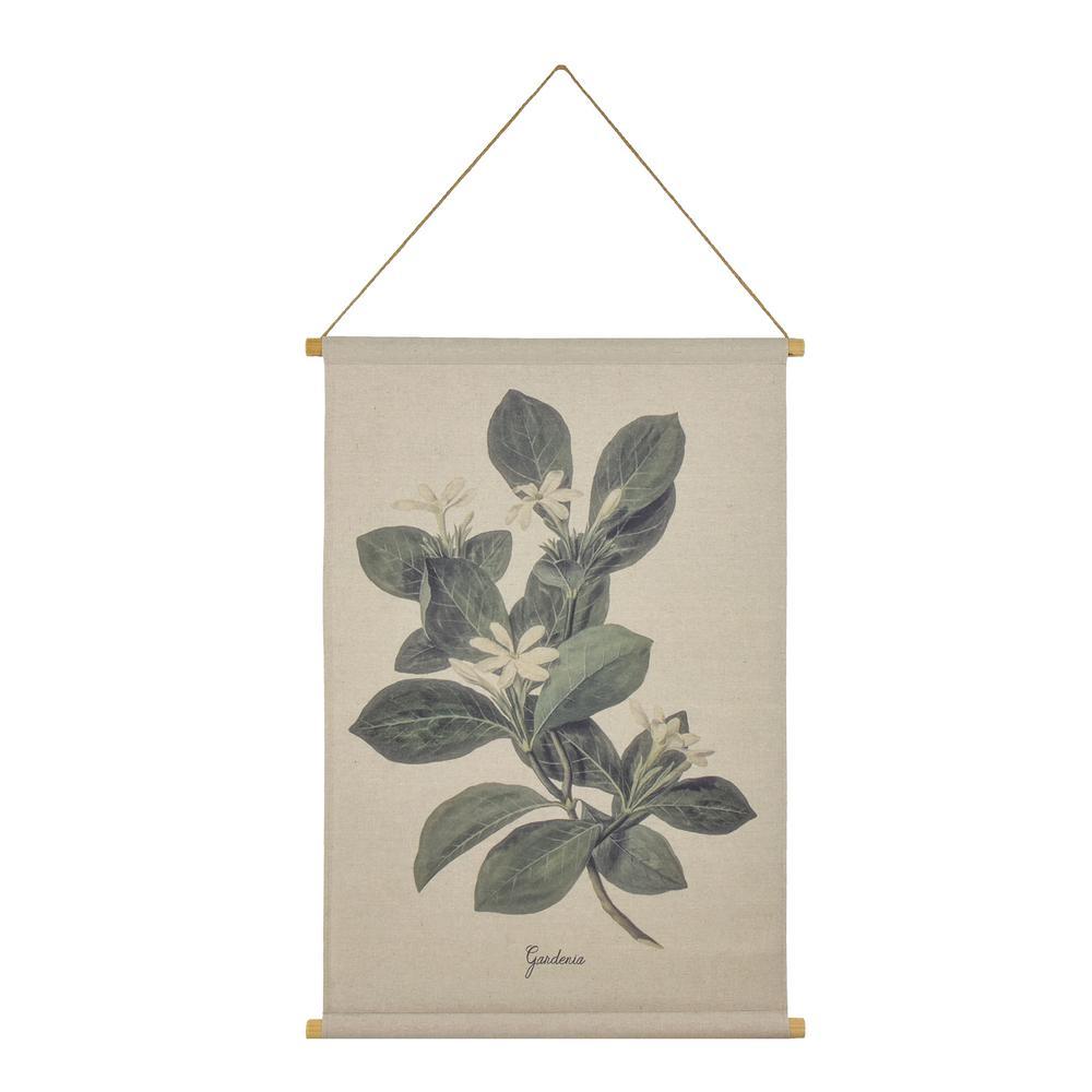 Gardenia Hanging Linen Tapestry