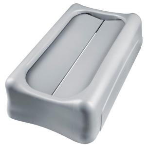 Rubbermaid Commercial Products Slim Jim Gray Trash Can Swing Top Lid by Rubbermaid Commercial Products