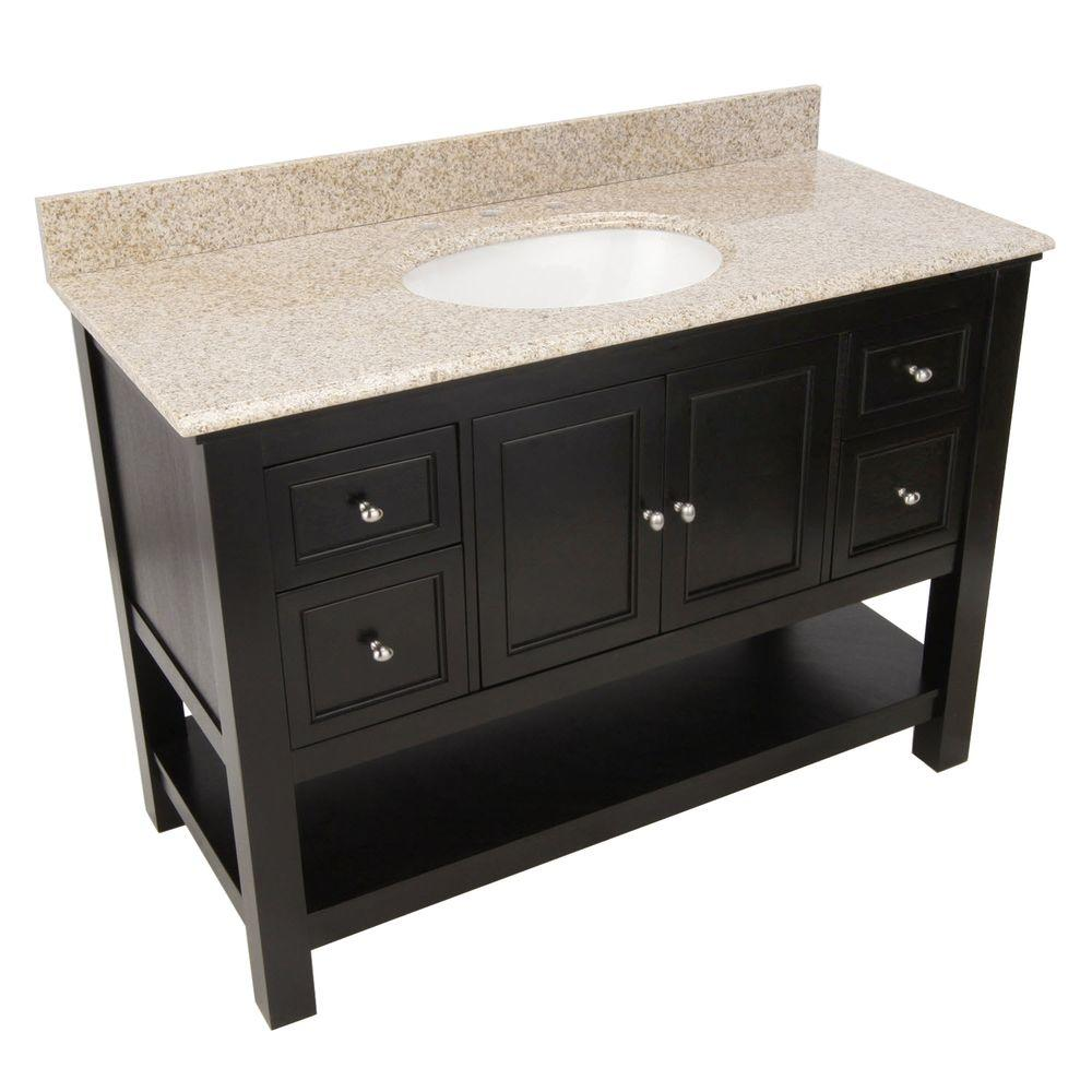 Granite Vanity Tops Product : Foremost gazette in vanity espresso with granite