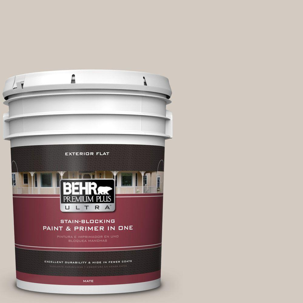 5-gal. #N320-2 Toasty Gray Flat Exterior Paint
