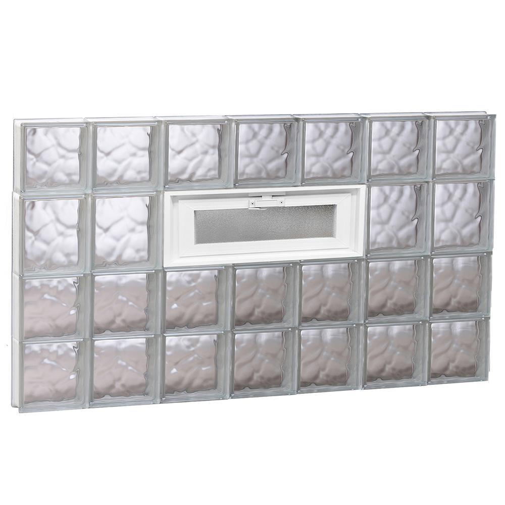 40.25 in. x 25 in. x 3.125 in. Wave Pattern Vented Glass ...