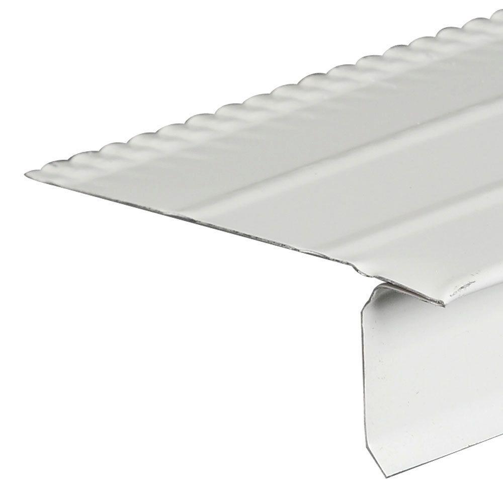 F4-1/2 White Galvanized Steel Drip Edge Flashing