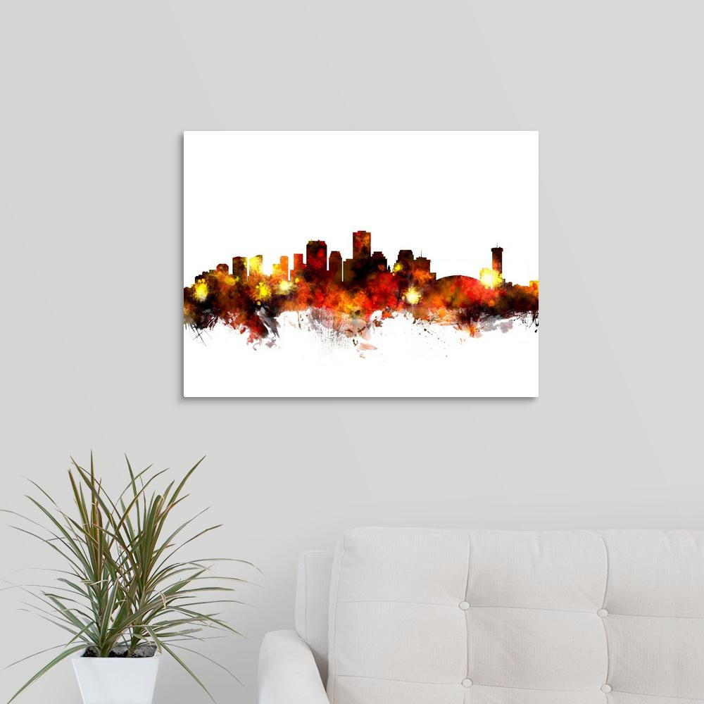 Greatcanvas New Orleans Louisiana Skyline By Michael Tompsett Canvas