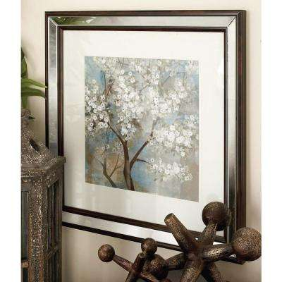 16 in. x 16 in. Framed Butterfly Collage Wall Art in Wood, Glass and Polystone (2-Pack)