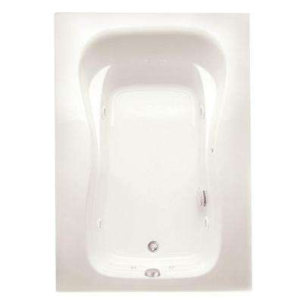 Marratta 60 in. Acrylic Right Drain Rectangular Alcove Whirlpool Bathtub in Biscuit