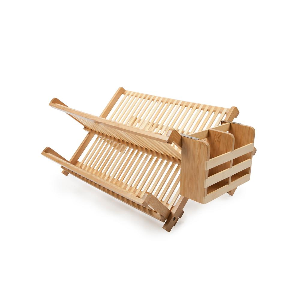 Core Bamboo Bamboo Dish Rack with Utensil Holder DR414J   The Home