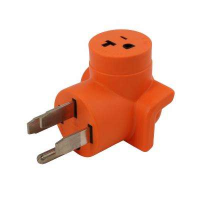 Plug Adapter NEMA 14-50P 50 Amp Range/RV/Generator Outlet to Household 15/20 Amp 125-Volt T-Blade Female Connector