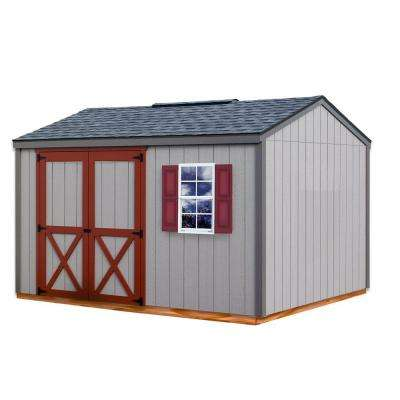 Cypress 12 ft. x 10 ft. Wood Storage Shed Kit with Floor