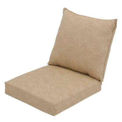 Roux Palm Rapid Dry Deluxe 2 Piece Outdoor Deep Seating Cushion
