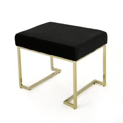 Leilani 19.50 in. x 26.75 in. x 18.75 in. Black and Gold Bench