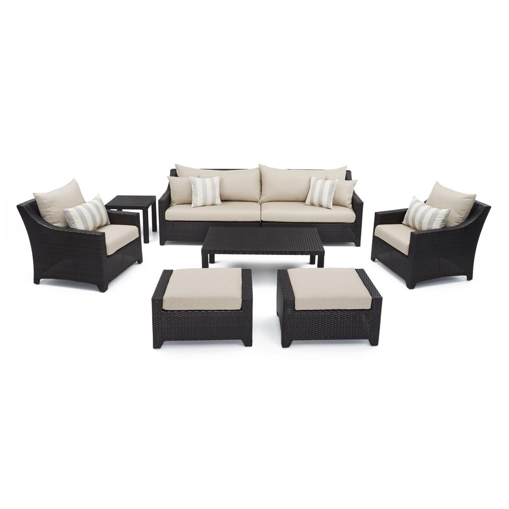 RST Brands Deco 8 Piece Patio Seating Set With Slate Grey Cushions