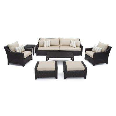 Deco 8-Piece Patio Seating Set with Slate Grey Cushions