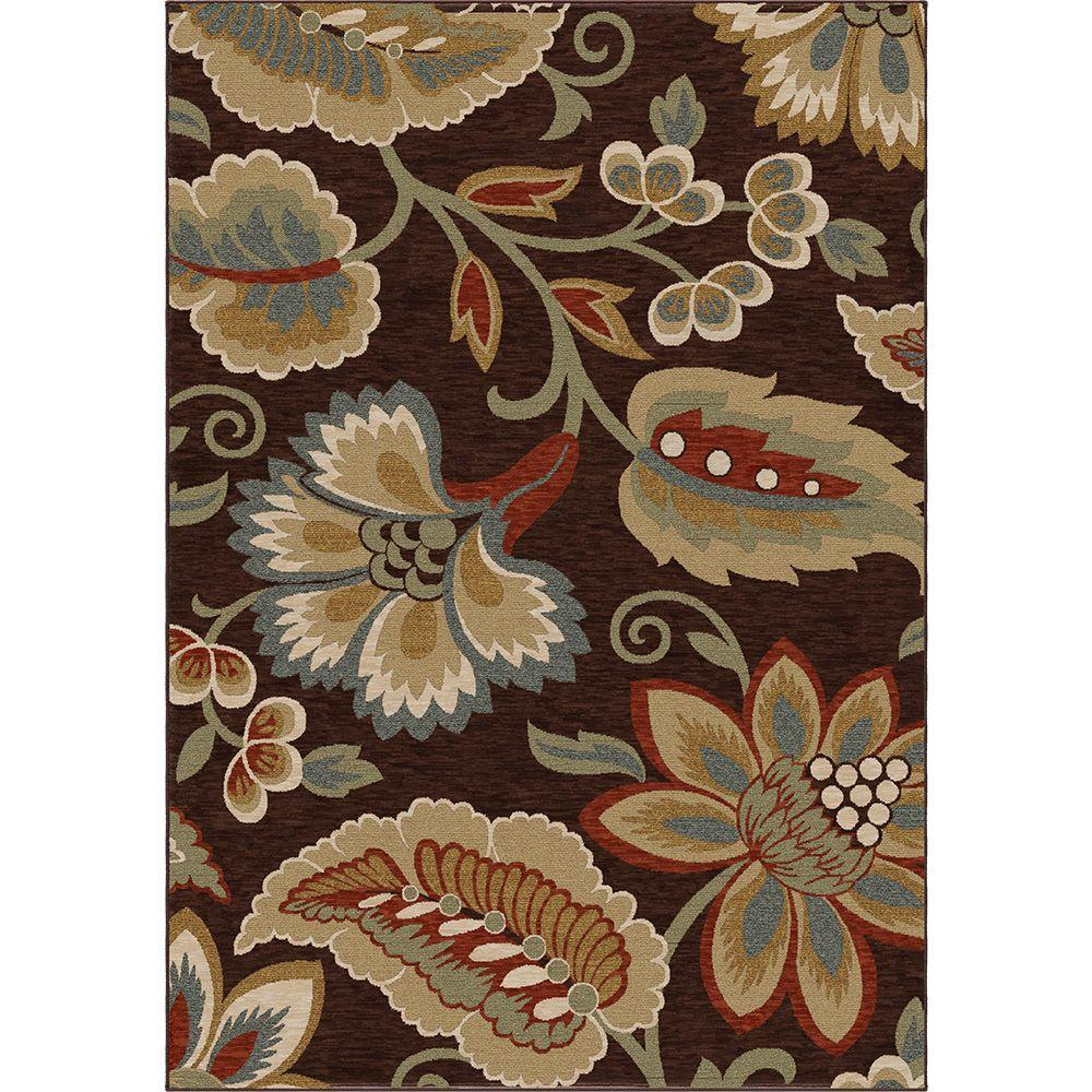 Orian Rugs Dooley Brown 5 ft. 3 in. x 7 ft. 6 in. Area Rug