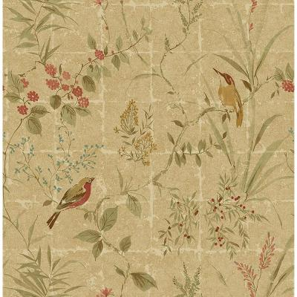 Imperial Green Garden Chinoiserie Wallpaper