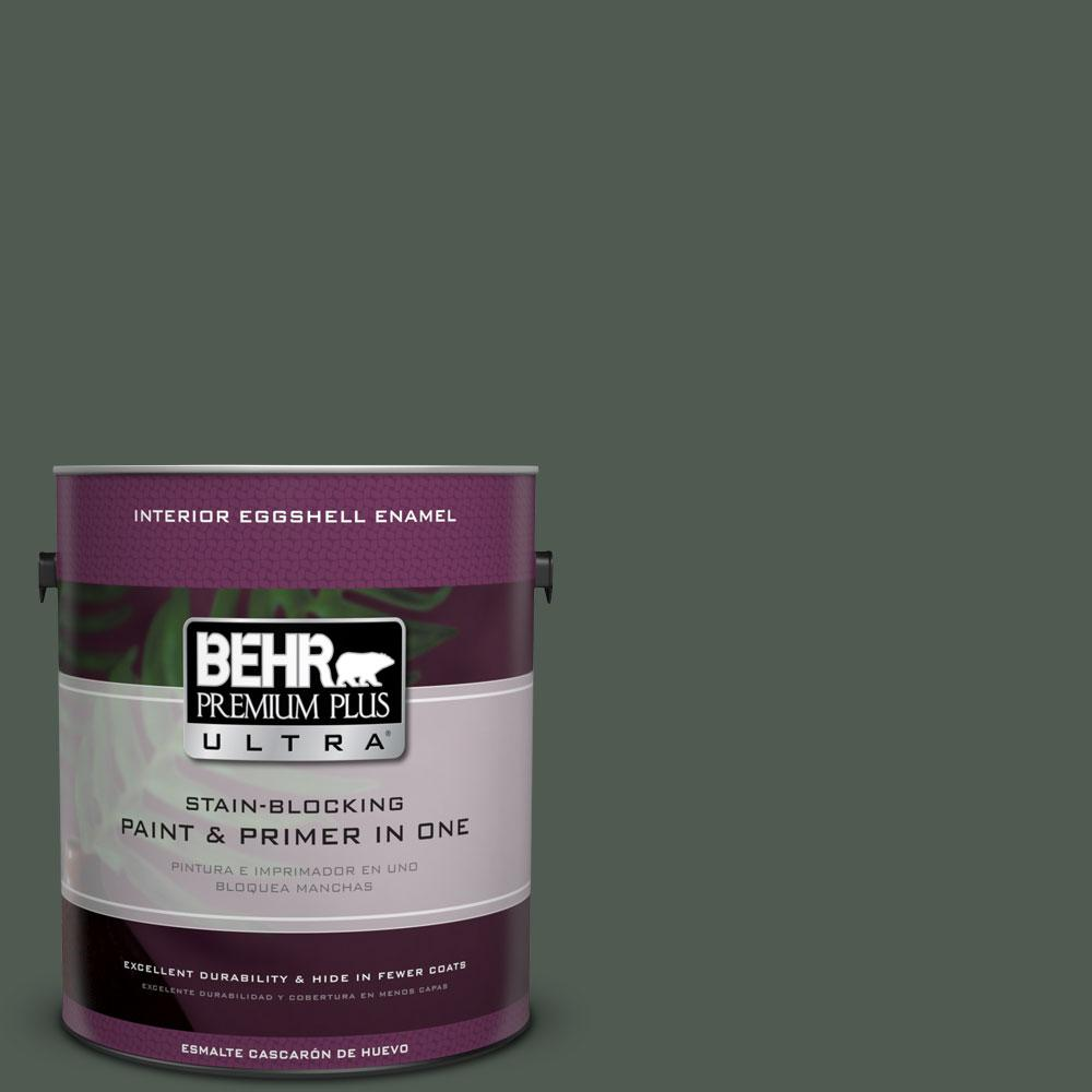 BEHR Premium Plus Ultra 1-gal. #700F-7 Evergreen Bough Eggshell Enamel Interior Paint