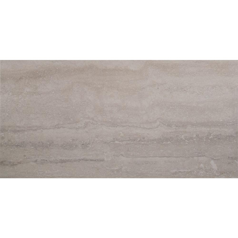 Msi Trevi Gris 12 In X 24 Glazed Porcelain Floor And Wall Tile 16 Sq Ft Case Nhdtregri12x24 The Home Depot