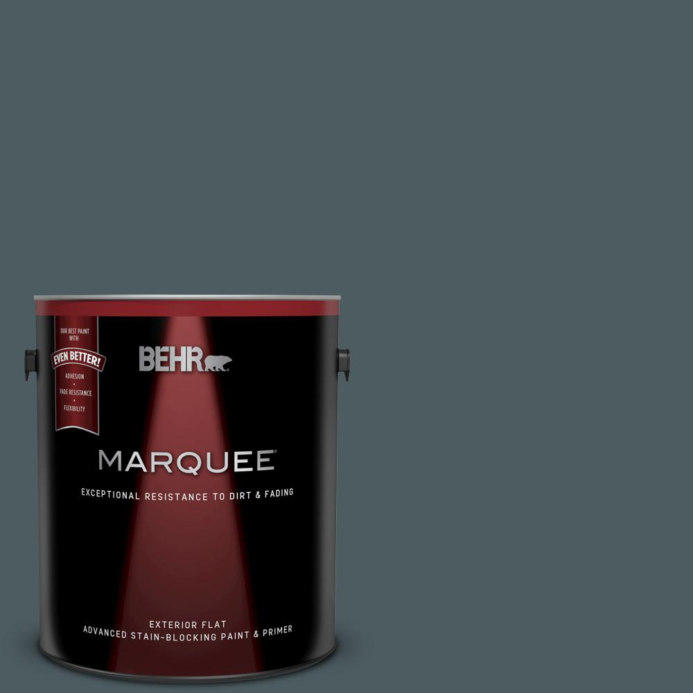 1 gal. #740F-6 Marine Magic Flat Exterior Paint and Primer in