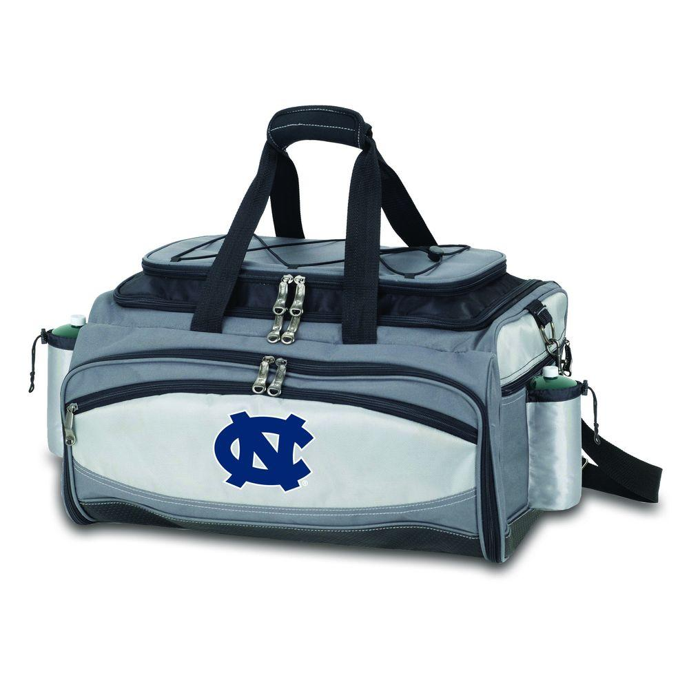 Picnic Time Vulcan North Carolina Tailgating Cooler and Propane Gas Grill Kit with Embroidered Logo-DISCONTINUED