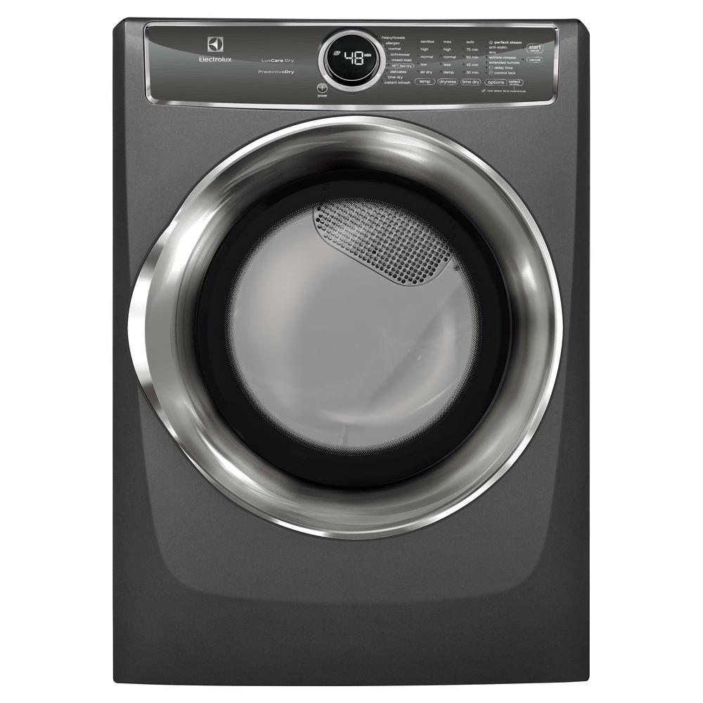 Electrolux 8.0 cu. ft. Electric Dryer with Steam, Predictive Dry in Titanium, ENERGY STAR