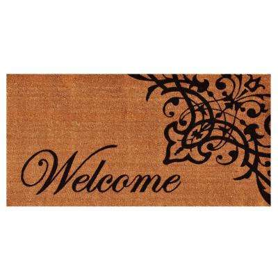Scroll Welcome 36 in. x 72 in. Door Mat