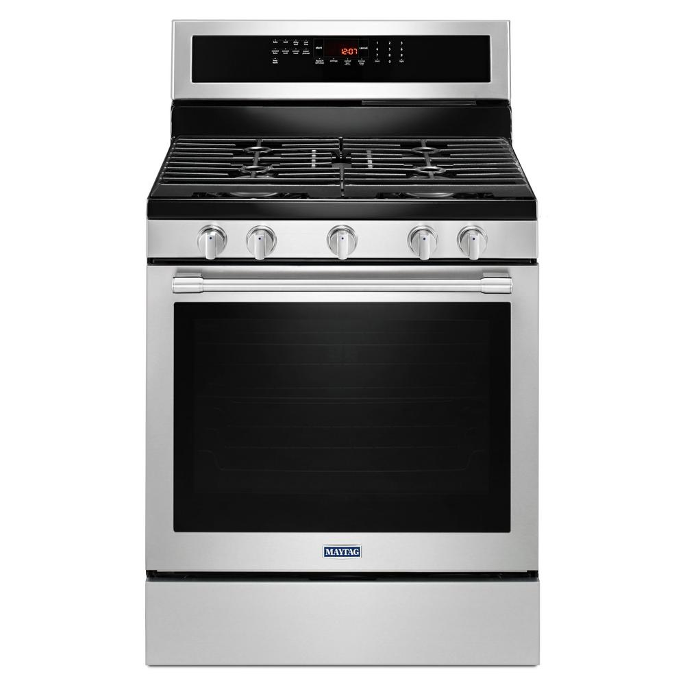 30 in. 5.8 cu. ft. Gas Range with True Convection in