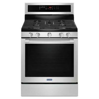 30 in. 5.8 cu. ft. Gas Range with True Convection in Fingerprint Resistant Stainless Steel