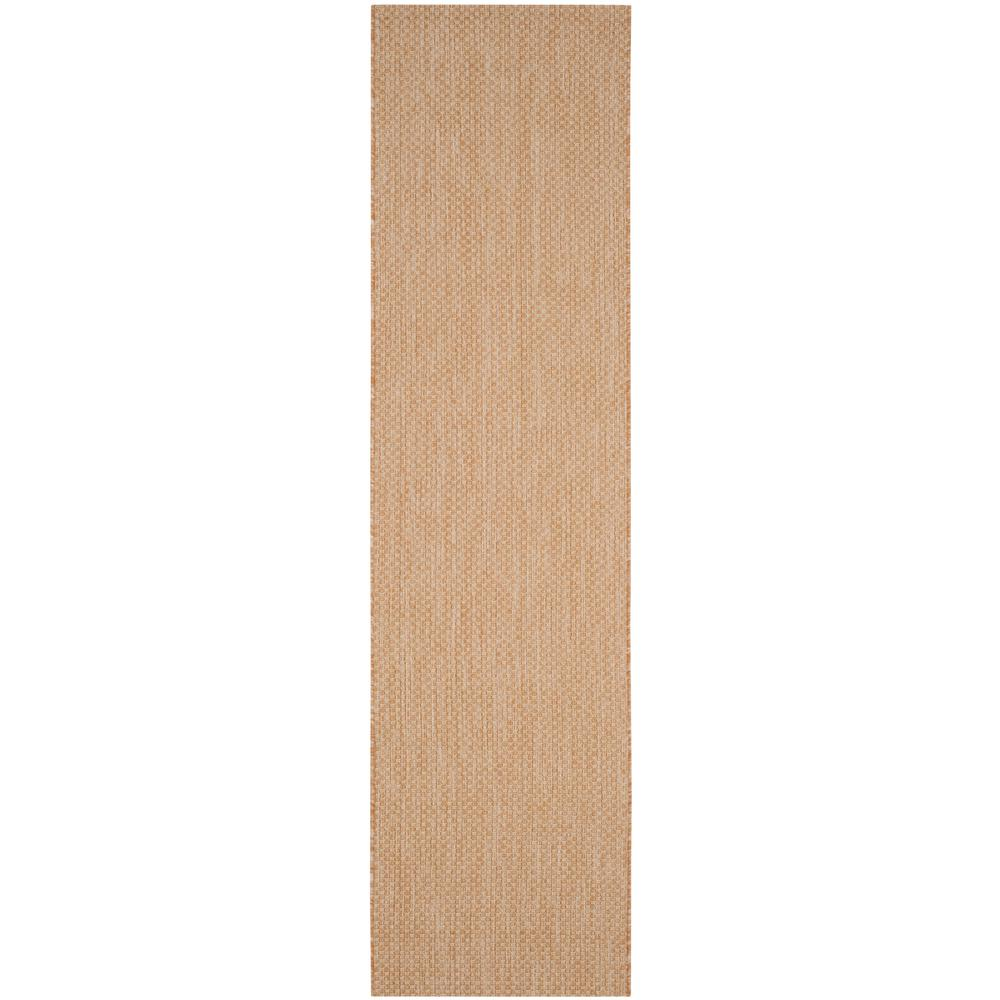 Safavieh Courtyard Natural/Cream 2 ft. 3 in. x 12 ft. Indoor ...