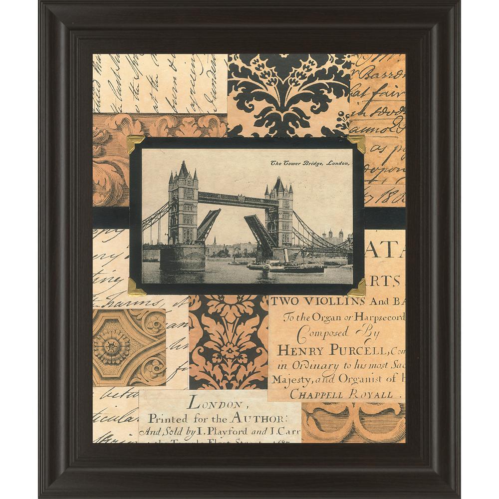 "22 in. x 26 in. ""Travel Collage II"" by Gillian Fullard Framed Printed Wall Art"
