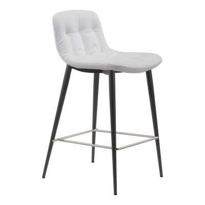 Tangiers 36.2 in. White Counter Chair (Set of 2)