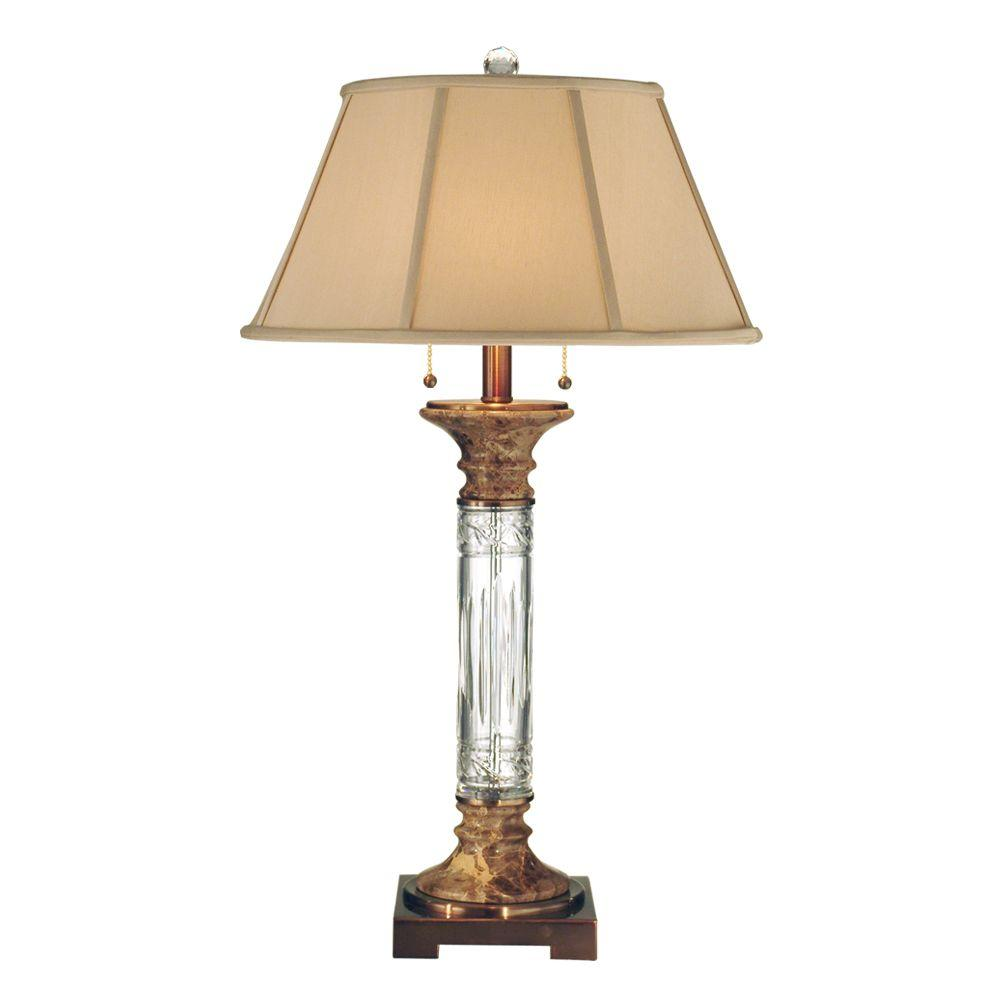 Dale Tiffany 29.5 in. Sierra Antique Brass Table Lamp-DISCONTINUED