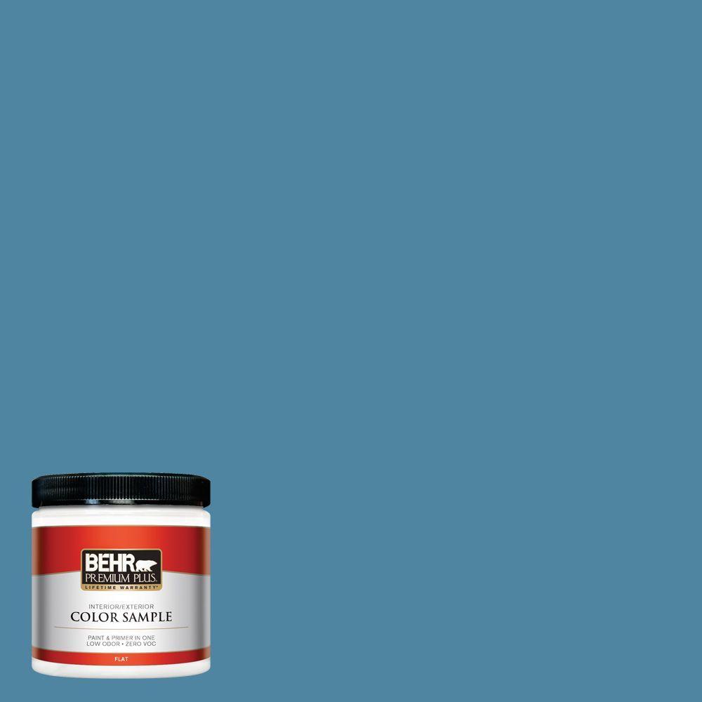 BEHR Premium Plus 8 oz. #S490-5 Jay Bird Interior/Exterior Paint Sample
