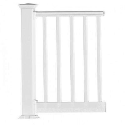 Original Rail PVC 6 ft. x 42 in. White Square Baluster Level Rail Kit