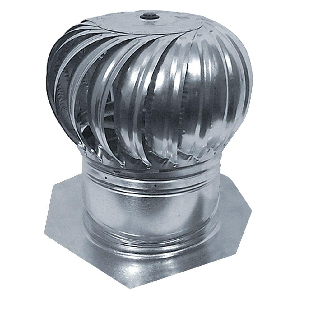12 in. Galvanized Internally Braced Dual-Bearing Wind Turbine in Mill