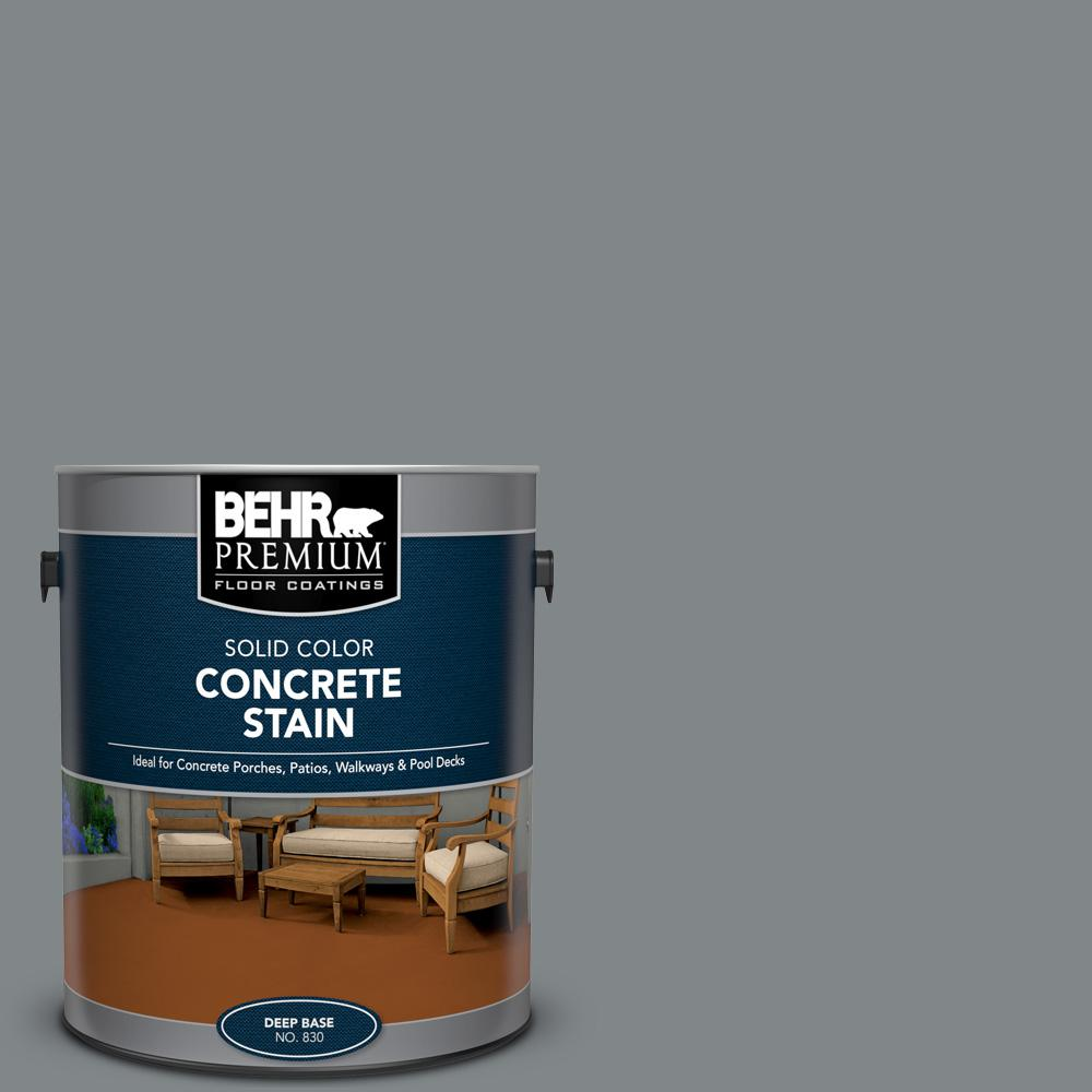 BEHR PREMIUM 1 gal. #PFC-64 Storm Solid Color Flat Interior/Exterior Concrete Stain
