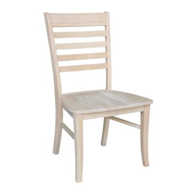 Roma Unfinished Wood Ladder Back Dining Chair (Set of 2)