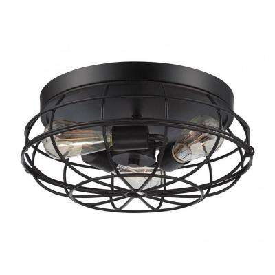 Mendoza 3-Light English Bronze Flush Mount