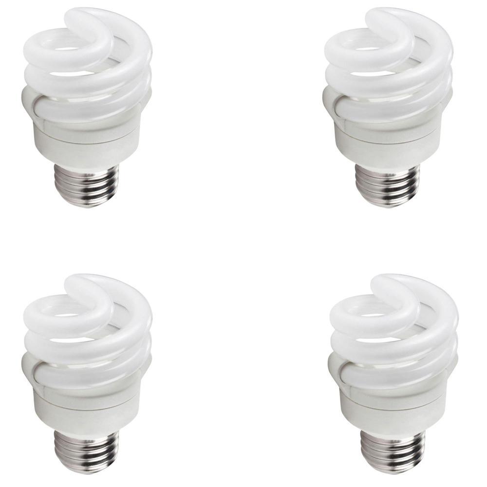 40-Watt Equivalent Spiral CFL Light Bulb Soft White (4-Pack)