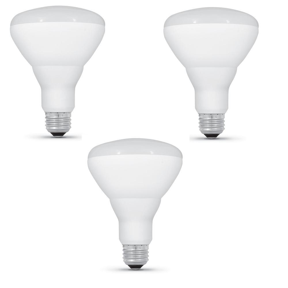 65-Watt Equivalent BR30 Dimmable CEC Title 24 Compliant LED ENERGY STAR 90+ CRI Flood Light Bulb Bright White (3-Pack)