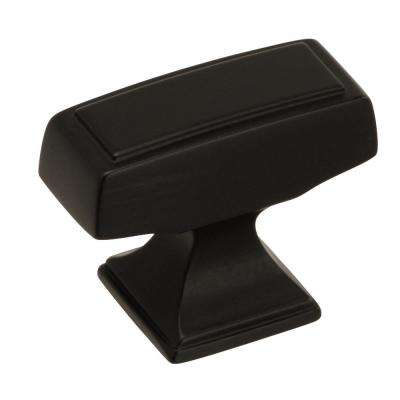 Mulholland 1-1/2 in. L (38 mm) Black Bronze Cabinet Knob