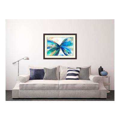 43.38 in. W x 33.38 in. H Blue butterfly by Allison Pearce Printed Framed Wall Art