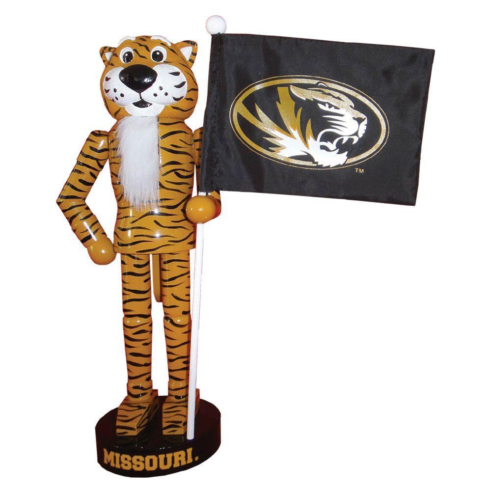 12 in. Missouri Mascot Nutcracker with Flag