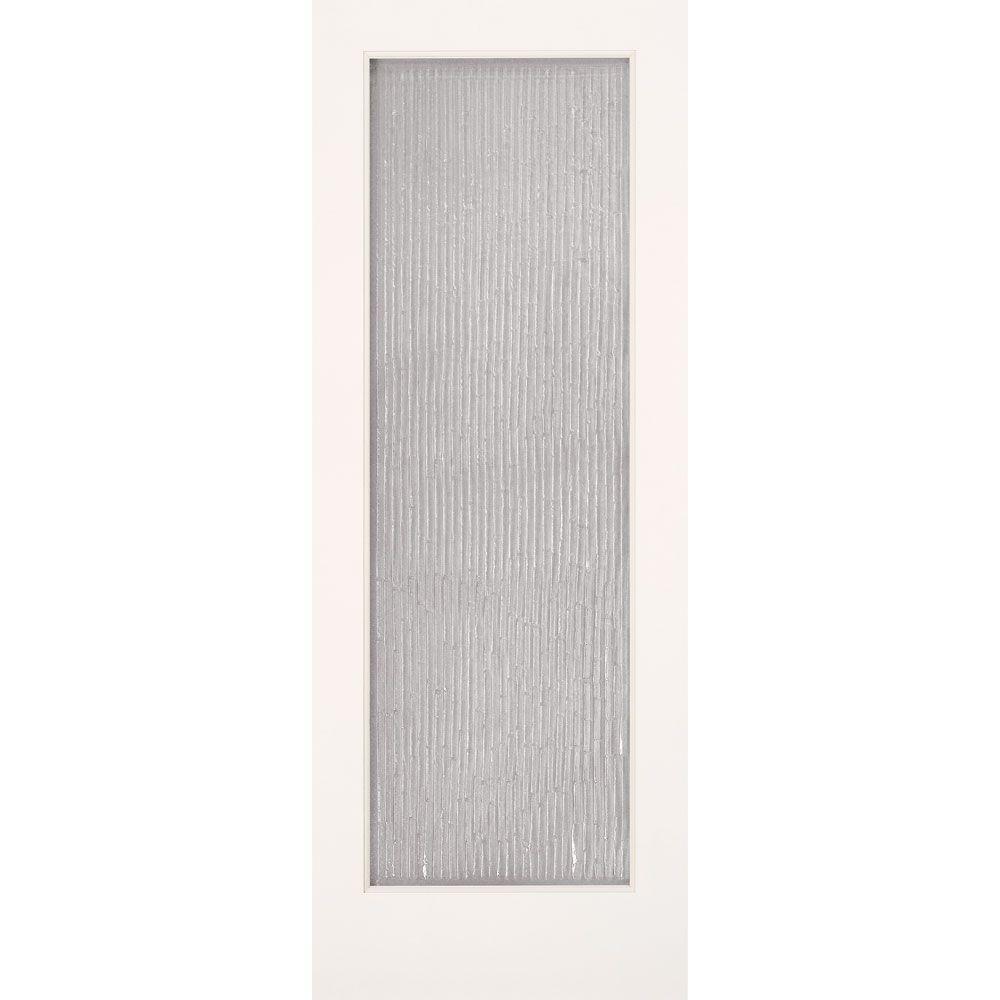Feather River Doors 30 in. x 80 in. 1 Lite Bamboo Casting Smooth Primed MDF Interior Door Slab