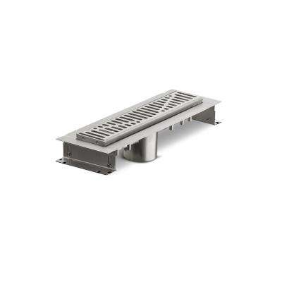 12 in. Stainless Steel Linear Shower Drain with Wave Grate