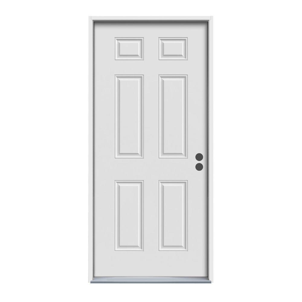 32 in. x 80 in. 6-Panel Primed 90 Minute Fire Rated