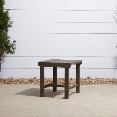 Renaissance Square Wood Outdoor Side Table